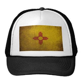 Mirada del Grunge de la bandera de New México Gorros Bordados