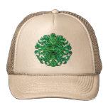 Mirada del hombre verde gorra