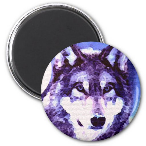 Mirada del lobo - lobo solo iman para frigorífico