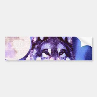 Mirada del lobo - lobo solo pegatina para auto