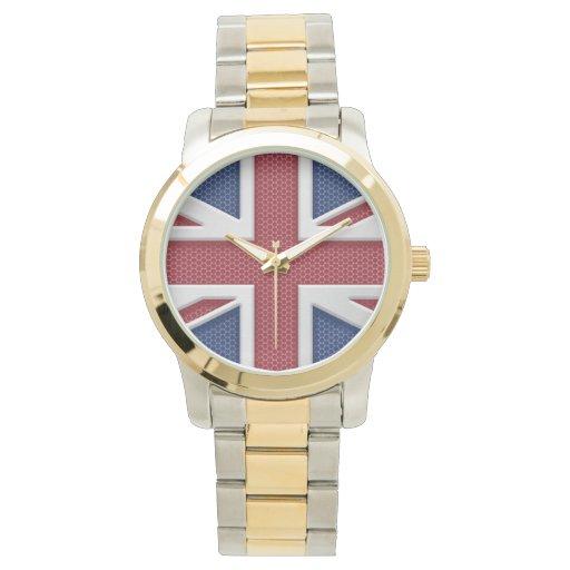 Mirada del metal de Union Jack Relojes De Mano