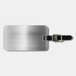 Mirada del metal del acero inoxidable etiquetas para equipaje