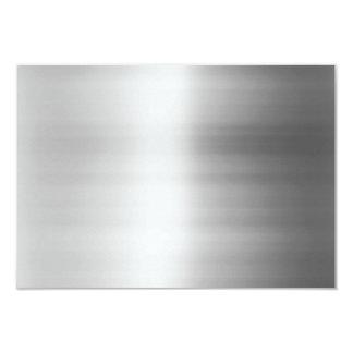 """Mirada del metal del acero inoxidable invitación 3.5"""" x 5"""""""