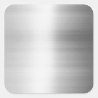 Mirada del metal del acero inoxidable pegatina cuadrada