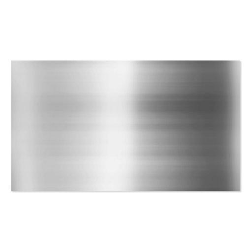 Mirada del metal del acero inoxidable tarjetas de visita