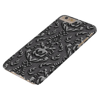 Mirada del metal del modelo del damasco del funda de iPhone 6 plus barely there