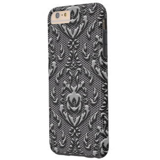Mirada del metal del modelo del damasco del funda para iPhone 6 plus tough