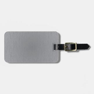 Mirada del metal plateado etiqueta de maleta