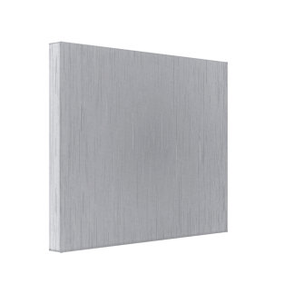 Mirada del metal plateado impresión en lienzo