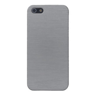 Mirada del metal plateado iPhone 5 carcasas