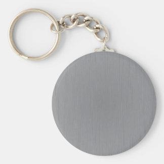 Mirada del metal plateado llavero redondo tipo pin