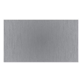 Mirada del metal plateado tarjetas de visita