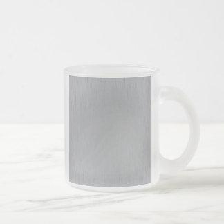 Mirada del metal plateado taza de café esmerilada