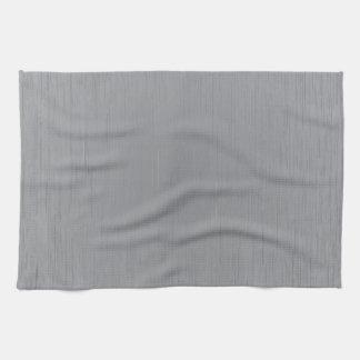 Mirada del metal plateado toallas de mano