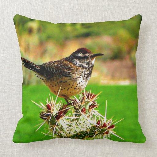 Mirada del pájaro adelante para verdad amor y espe cojin