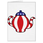 Mirada del símbolo 3D de la fiesta del té Tarjetón