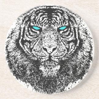 Mirada del tigre posavaso para bebida