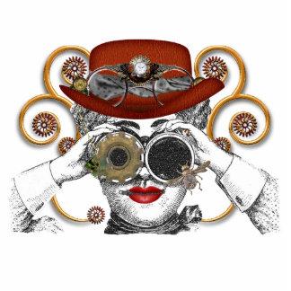 mirada del tipo steampunked del steampunk llavero fotográfico