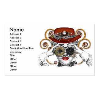 mirada del tipo steampunked del steampunk tarjetas de negocios