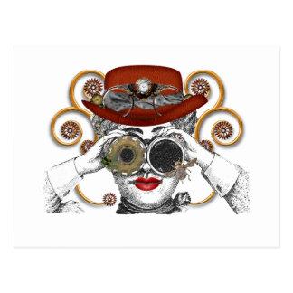 mirada del tipo steampunked del steampunk postales