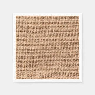 Mirada del yute del estilo de la tela de la servilletas desechables