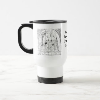 Mirada detrás de la taza
