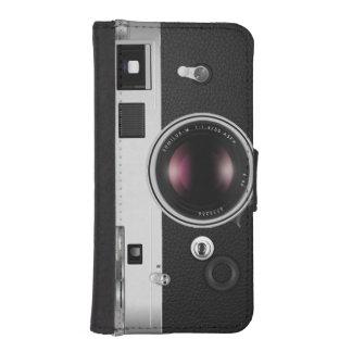 Mirada divertida de la cámara del vintage funda tipo billetera para iPhone 5