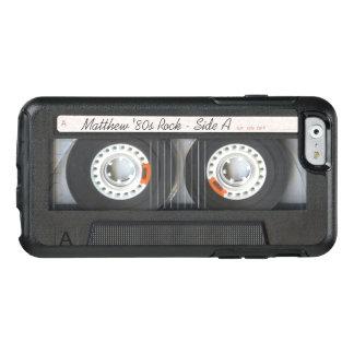 Mirada divertida de música del casete de la cinta funda otterbox para iPhone 6/6s