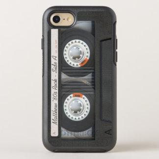 Mirada divertida de música del casete de la cinta funda OtterBox symmetry para iPhone 7