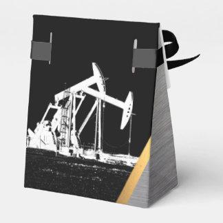 Mirada dual del metal de las unidades del bombeo caja para regalo de boda