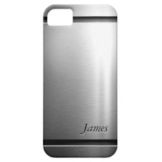 Mirada elegante del acero inoxidable del metal del iPhone 5 funda