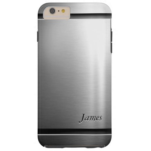 Mirada elegante del acero inoxidable del metal del funda de iPhone 6 plus tough
