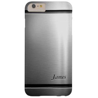 Mirada elegante del acero inoxidable del metal del funda barely there iPhone 6 plus