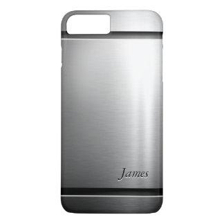 Mirada elegante del acero inoxidable del metal del funda iPhone 7 plus