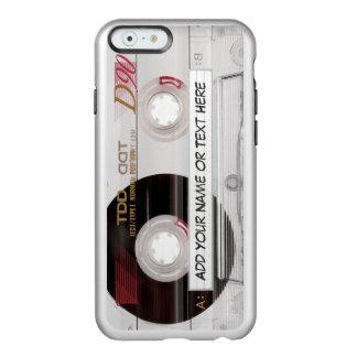 Mirada elegante del claro de la cinta de casete de funda para iPhone 6 plus incipio feather shine