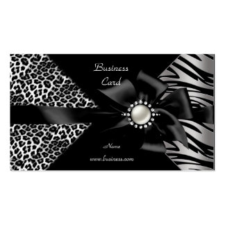Mirada elegante del diamante negro del leopardo de tarjetas de visita