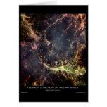 Mirada en el corazón de la nebulosa de cangrejo felicitacion