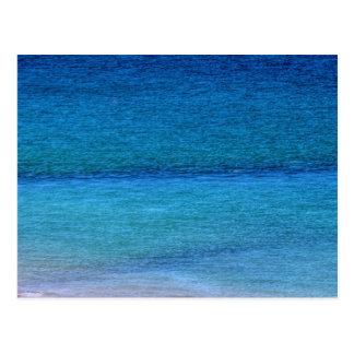 Mirada en el mar azul tarjetas postales