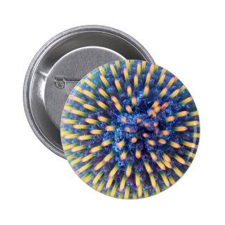 Mirada en la flor del cono pin redondo 5 cm