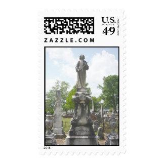 mirada encima timbres postales