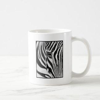 Mirada fija de la cebra tazas de café