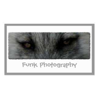 Mirada fija del Fox ártico de AFS Tarjetas De Visita