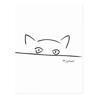 Mirada fija del gato postal