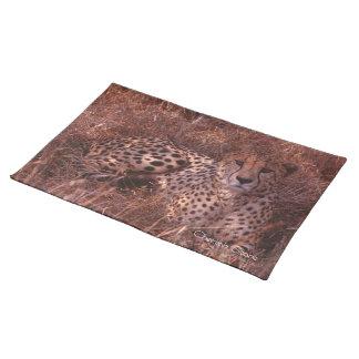 Mirada fija del guepardo manteles individuales