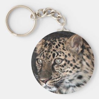 Mirada fija del leopardo llaveros personalizados