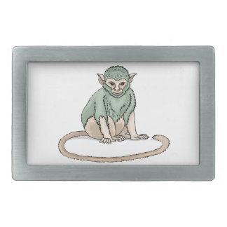 Mirada fija del mono hebillas de cinturón rectangulares