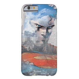 Mirada fija del superhombre funda de iPhone 6 barely there