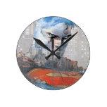 Mirada fija del superhombre relojes de pared