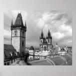 Mirada fija Mesto de Praga Impresiones