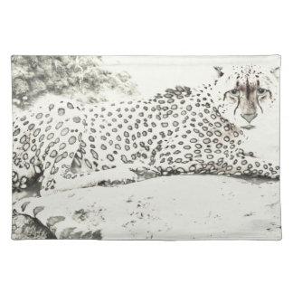 Mirada fija Tom Wurl.jpg del guepardo Mantel Individual